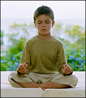 Boy in meditation